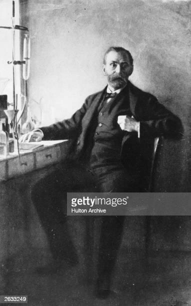 Swedish chemist Alfred Bernhard Nobel inventor of dynamite and founder of the Nobel Prize Original Publication People Disc HH0336 Original Artwork...