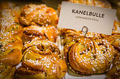 A collection of Swedish buns also called Kanelbulle