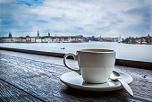 Coffee with a view of Stockholm, Sweden.