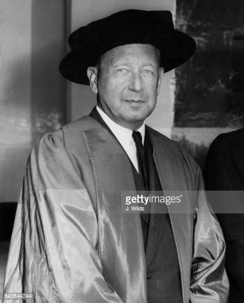 Swedish diplomat Dag Hammarskjold SecretaryGeneral of the United Nations receives an honorary doctorate in Civil Law and Lectures at Oxford...