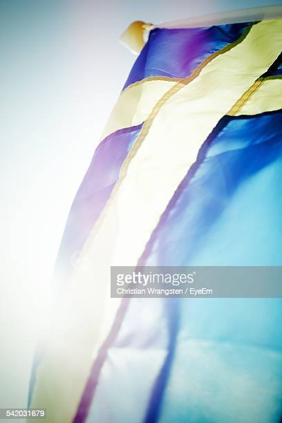 Swedish Flag Against Clear Sky