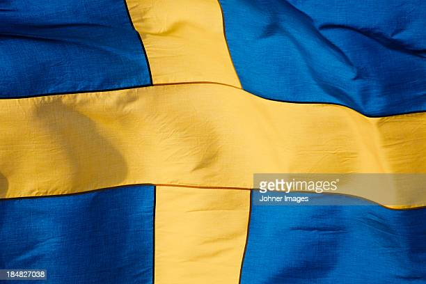 Swedish flag, close-up