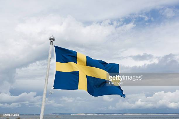 Swedish flag in wind
