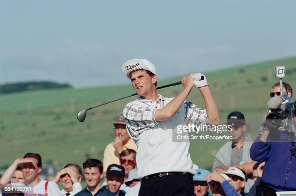 Swedish golfer Jesper Parnevik pictured in action to finish as runner up in 2nd place at the 1994 Open Championship at Turnberry Golf Resort in...