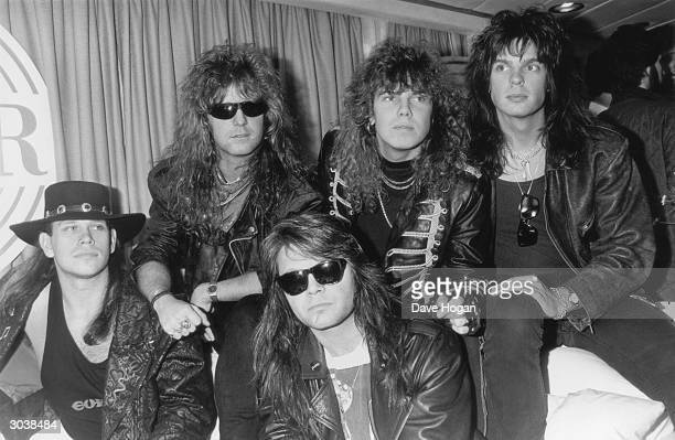 Swedish heavy rock group Europe at the San Remo pop festival February 1989