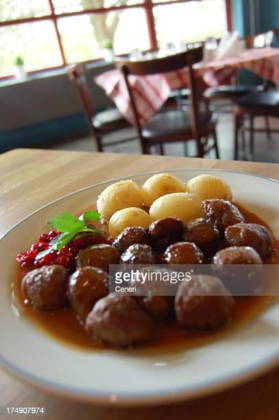 Swedish meatballs lunch