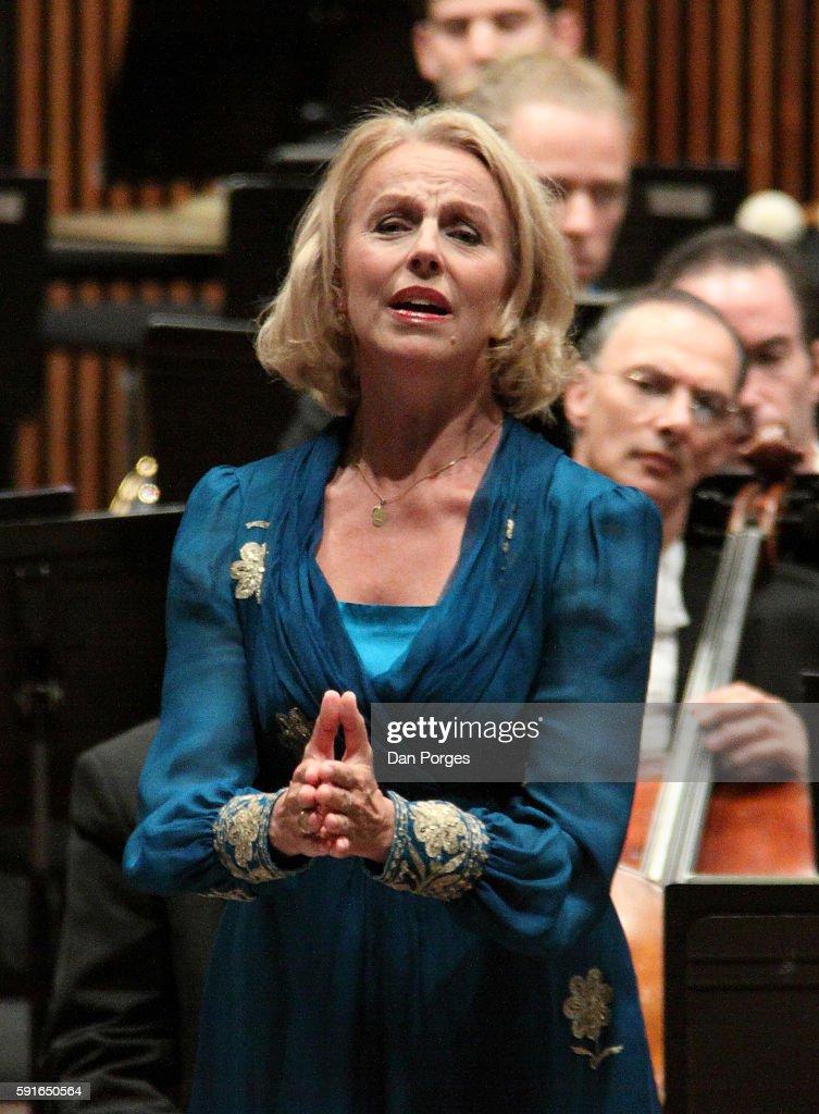 Swedish mezzo soprano Anne Sofie von Otter performs with the Israel Philharmonic Orchestra at the Mann Auditorium Tel Aviv Israel October 15 2010