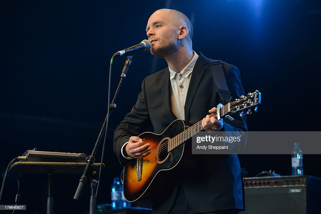 Swedish musician <a gi-track='captionPersonalityLinkClicked' href=/galleries/search?phrase=Jens+Lekman&family=editorial&specificpeople=4022956 ng-click='$event.stopPropagation()'>Jens Lekman</a> performs on stage on Day 3 of End Of The Road Festival 2013 at Larmer Tree Gardens on September 1, 2013 in Salisbury, England.