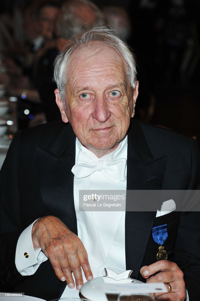 Swedish poet and Nobel Prize for Literature laureate Tomas Transtromer attends the Nobel Prize Banquet at Stockholm City Hall on December 10 2011 in...