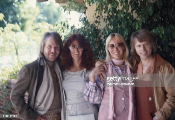 Swedish pop group ABBa circa 1975