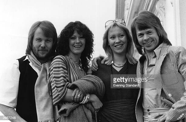 Swedish pop group Abba From left to right Benny Andersson AnniFrid Lyngstad Agnetha Faltskog and Bjorn Ulvaeus