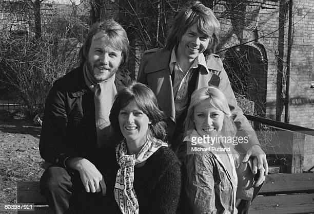 Swedish pop group Abba Stockholm April 1976 Clockwise from top left Benny Andersson Björn Ulvaeus Agnetha Fältskog and AnniFrid Lyngstad