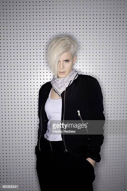 Swedish pop star Robyn poses at a portrait session in Los Angeles CA