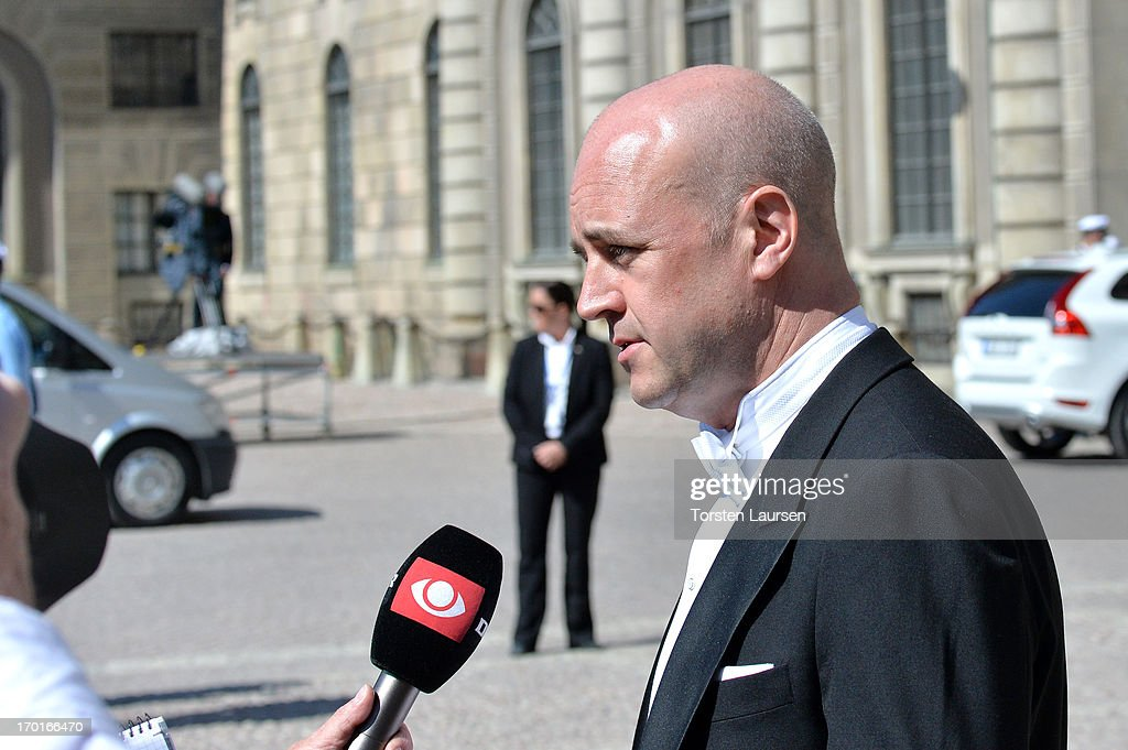 Swedish Prime Minister <a gi-track='captionPersonalityLinkClicked' href=/galleries/search?phrase=Fredrik+Reinfeldt&family=editorial&specificpeople=861728 ng-click='$event.stopPropagation()'>Fredrik Reinfeldt</a> attends the wedding of Princess Madeleine of Sweden and Christopher O'Neill hosted by King Carl Gustaf XIV and Queen Silvia at The Royal Palace on June 8, 2013 in Stockholm, Sweden.