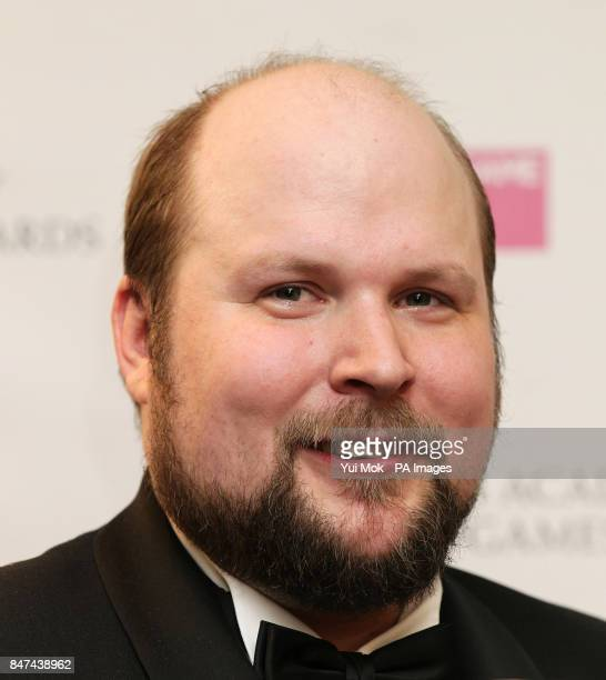 Swedish programmer and creator of Minecraft Markus Persson with his Special Award at the GAME British Academy Video Games Awards at the London Hilton...