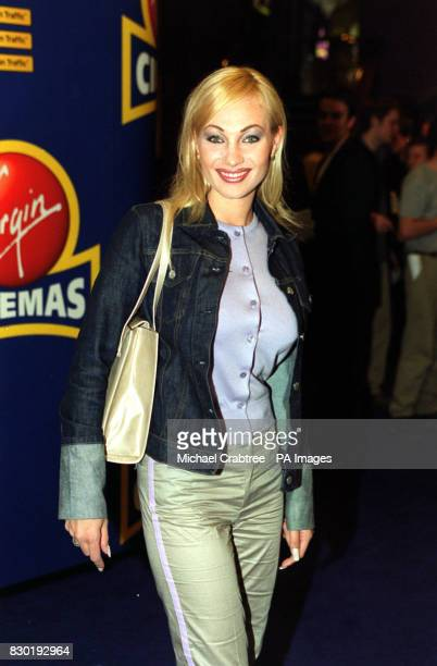 Swedish singer Charlotte Nilsson arrives at the Virgin Cinema in Haymarket London for the premiere of the film 'Human Traffic' Ms Nilsson was the...