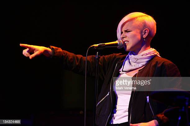 Swedish singer Robyn performs at the Melkweg on January 12 2008 in Amsterdam The Netherlands