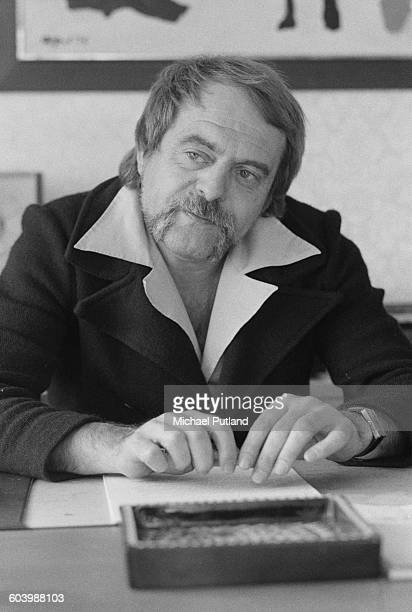 Swedish songwriter producer music executive and manager of pop group Abba Stig Anderson Stockholm April 1976