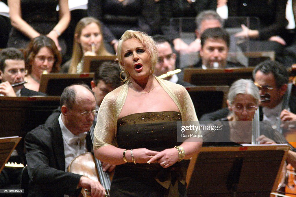 Swedish soprano Irene Theorin performs as Turandot by Giacomo Puccini with the Israel Philharmonic Orchestra conducted by Zubin Mehta at the Mann...