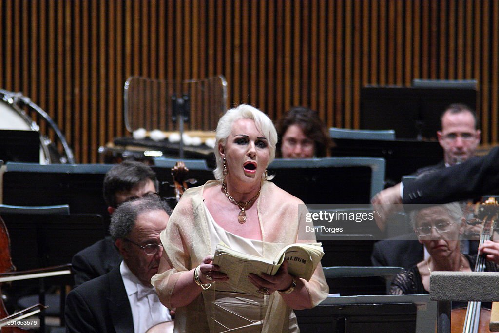 Swedish soprano Irene Theorin performs with the Israel Philharmonic Orchestra during a concert at the Mann Auditorium Tel Aviv Israel April 10 2010