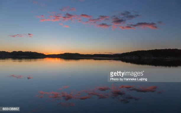 Swedish Sunset Reflections