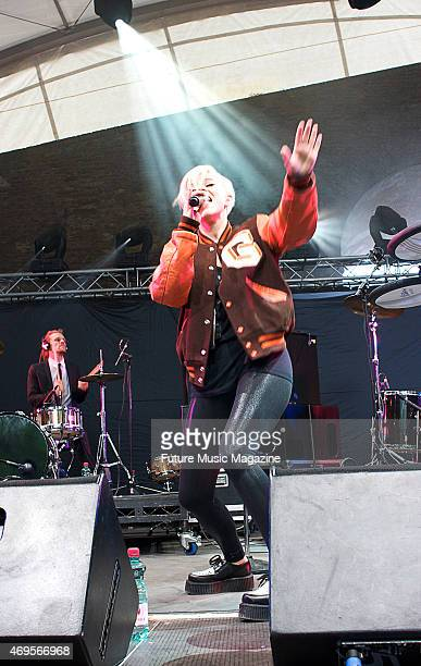 Swedish synth pop musician Robyn performing live on stage at the Schlossberg in Graz as part of the SpringEight Festival on May 21 2008