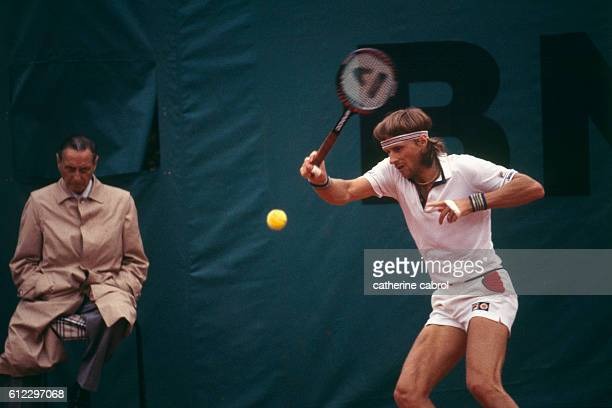 Swedish tennis player Bjorn Borg during the Roland Garros French Open