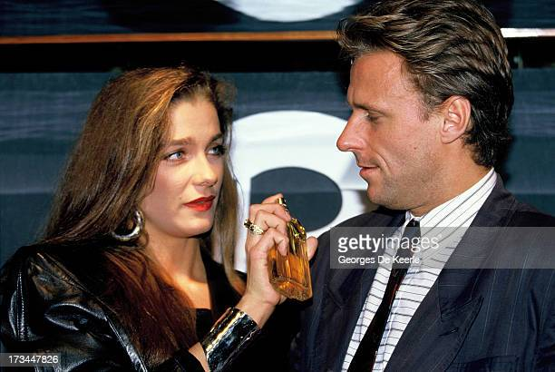 Swedish tennis player Bjorn Borg launches a fragrance at Stringfellows nightclub in London accompanied by his girlfriend Jannike Bjorling on October...