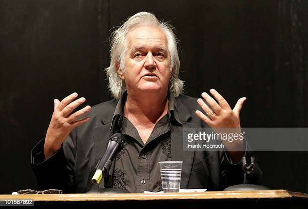 Swedish writer Henning Mankell attends a press conference before he starts his reading tour in Germany to promote his new book 'The troubled man' at...