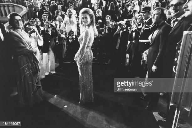 SwedishAmerican actress and singer AnnMargret poses for photographers at the Cannes Film Festival France circa 1975