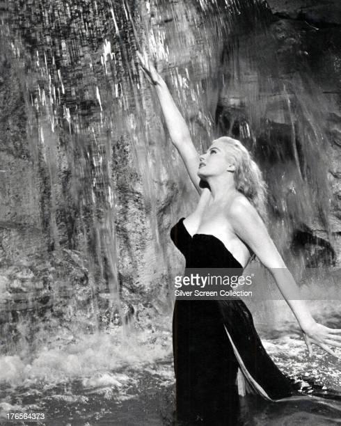 SwedishAmerican actress Anita Ekberg as Sylvia in the fountain scene from 'La Dolce Vita' directed by Federico Fellini 1960