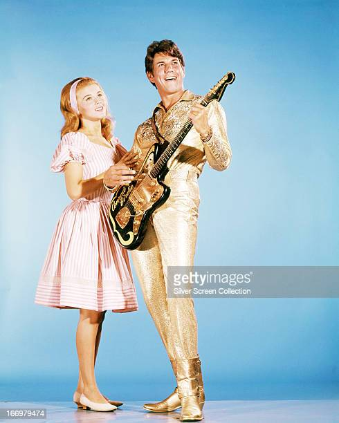 SwedishAmerican actress AnnMargret and American actor Jesse Pearson in a promotional portrait for 'Bye Bye Birdie' directed by George Sidney 1963