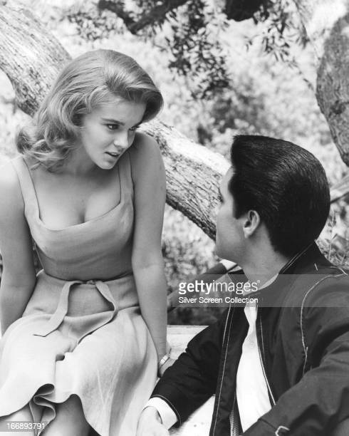 SwedishAmerican actress AnnMargret with Elvis Presley in a publicity still for 'Viva Las Vegas' directed by George Sidney 1964
