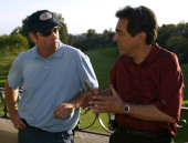 DB Sweeney and Joe Mantegna during The Autism Coalition's First Annual LA Celebrity Golf Challenge and Auction at Riviera Country Club in Pacific...