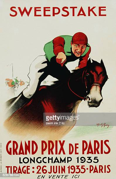 Sweepstake Grand Prix de Paris Poster by Charley Garry