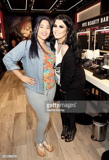 Sweepstakes Winner Jasmine Jackson and Ourfa Zinali @ourfazinali attend NYX Professional makeup store grand opening ribbon cutting celebration at...