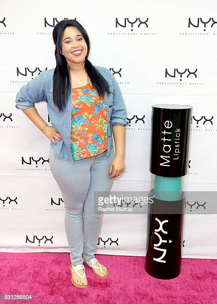 Sweepstakes Winner Jasmine Jackson attends the NYX Professional makeup store grand opening ribbon cutting celebration at Fashion Square Center on May...
