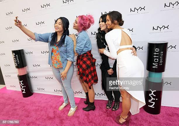 Sweepstakes Winner Jasmine Jackson Top Beauty Influencers Amy Pham @iamamypham Ourfa Zinali @ourfazinali and Aja Dang @ajadang attend NYX...