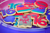 Birthday cookies for sweet 16 birthday party