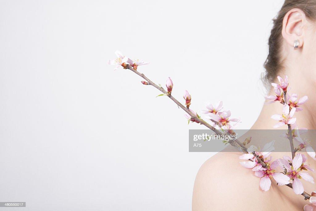 Doce amêndoa Flores : Foto de stock