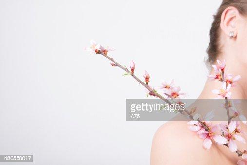 Almendras cerezos en flor sweet : Foto de stock