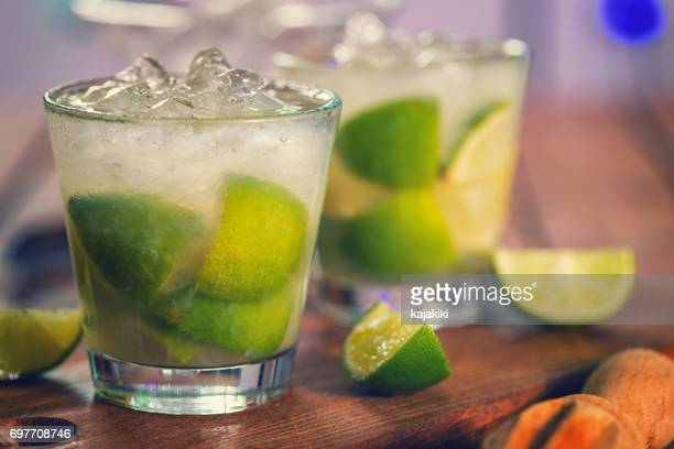 Sweet and Refreshing Drink Caipirinha Cocktail
