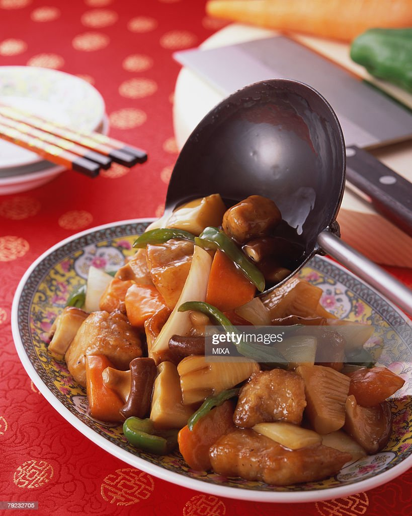 Sweet and Sour Pork : Stock Photo