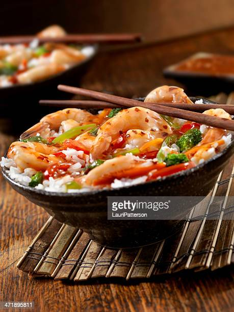Sweet and Sour Shrimp Rice Bowl
