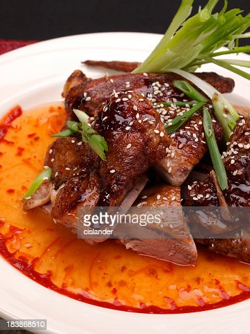 Sweet and Spicy Roast Duck : Stock Photo