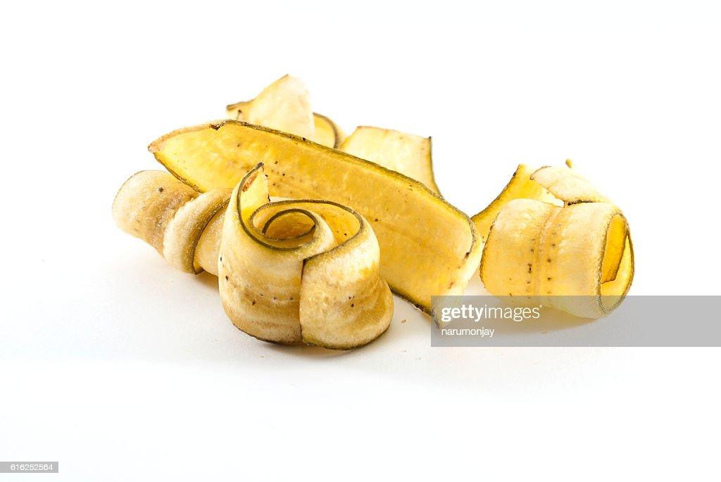 sweet banana crisps : Foto de stock