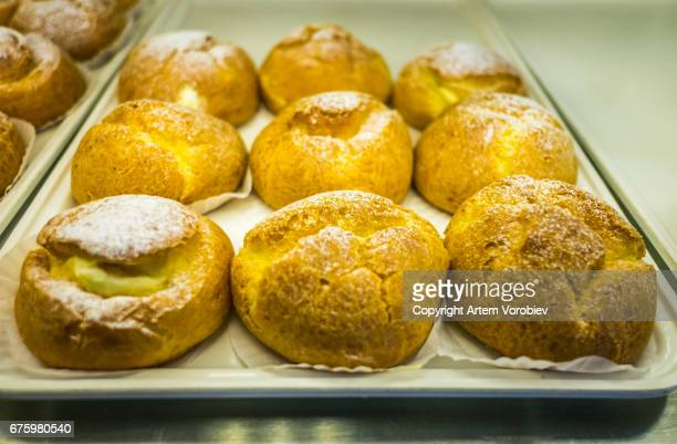 Sweet buns in Japanese bakery