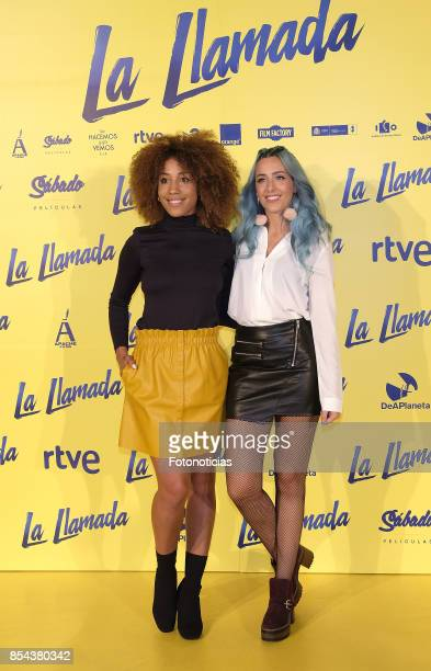 Sweet California attends the 'La Llamada' premiere yellow carpet at the Capitol cinema on September 26 2017 in Madrid Spain