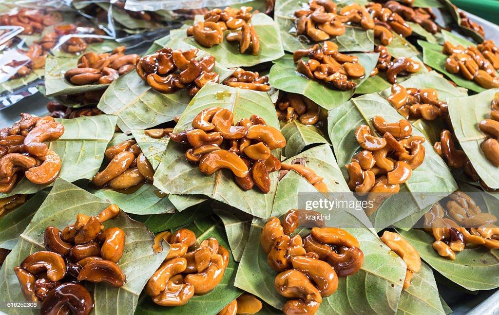 Sweet cashew nuts : Foto de stock