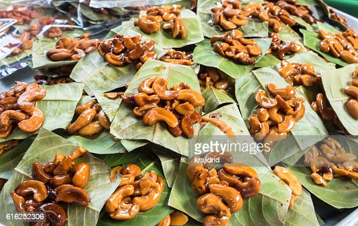 Sweet cashew nuts : Foto de stock